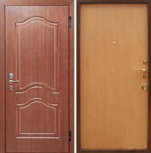 Входная металлическая дверь МДФ (ПВХ) снаружи и ламинат внутри СП025