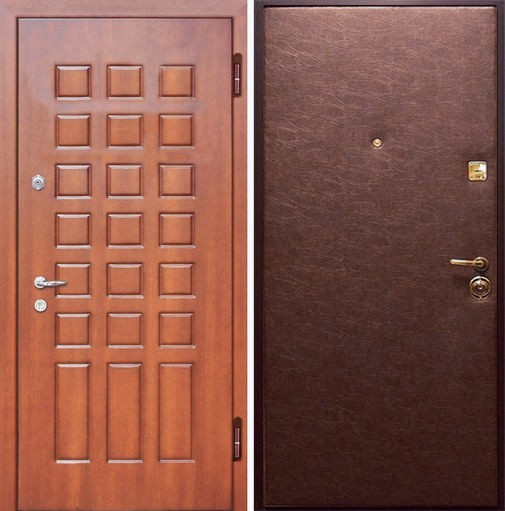 Входная металлическая дверь винилискожа + МДФ СП019