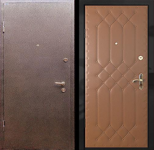 Входная металлическая дверь порошковое напыление + винилискожа СП006