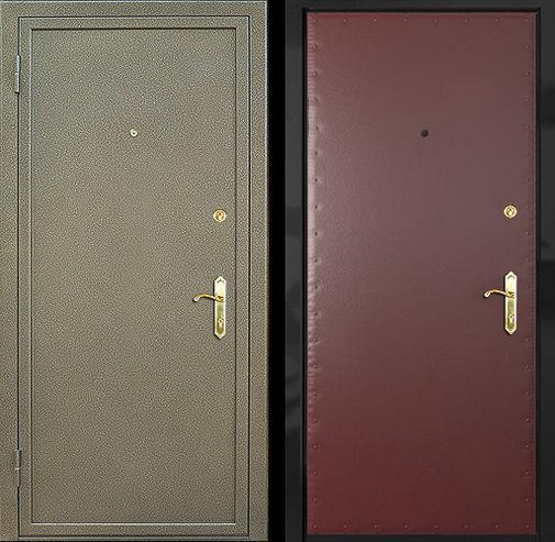 Входная металлическая дверь порошок + винилискожа - усиленная СП012