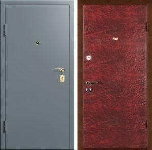 Входная металлическая дверь порошок + винилискожа СП002