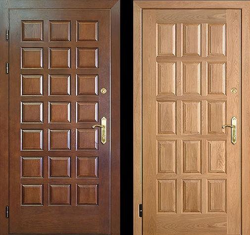 Входная металлическая дверь филенчатым МДФ СП314