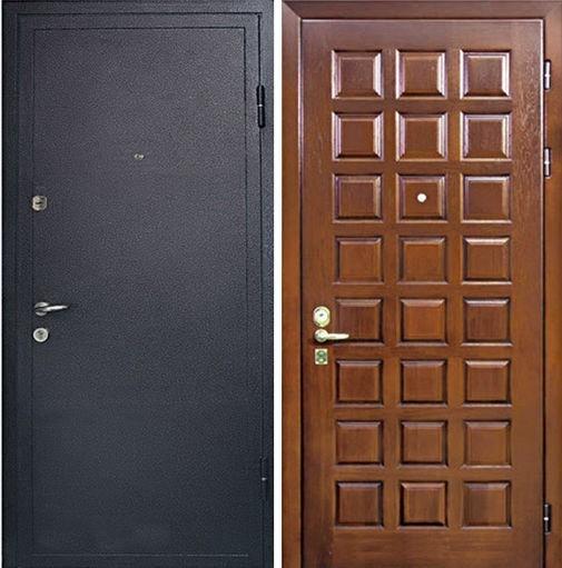 Входная металлическая дверь порошковое напыление с бронеконвертом и МДФ СП049